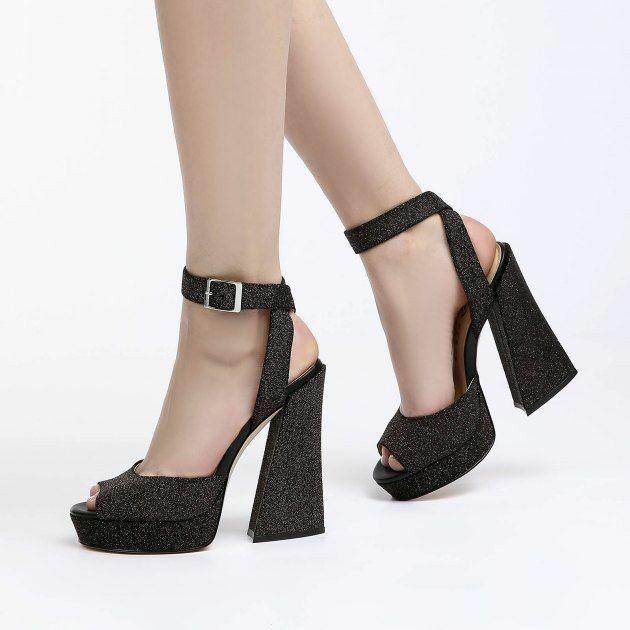 NWOB KATY PERRY Maggie Sparkly  High Heel Sandale Unique 8 Retro 70's Sandale sz 8 Unique ce0a93
