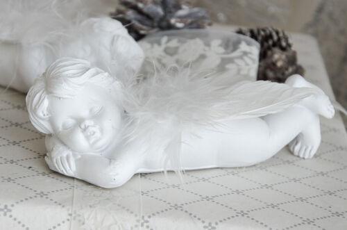 Engel Schutzdengel Engelfigur Paar Deko Shabby Chic Weihnachten Christmas Set