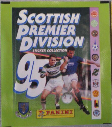96 /& 97 pacchetti non aperti PANINI scottish premier Division Adesivo Collection 95