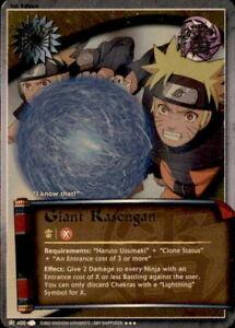 Naruto Rasengan J-210 Super Rare Card Near Mint