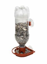 Gadjit Soda Bottle Window Wild Bird Feeder kits Terra Cotta Pack of 2