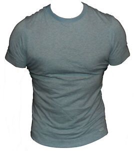 New-G-Star-Organic-Raw-Mens-T-Shirt-Round-Neck-in-Orbit-Blue-Colour-Size-S