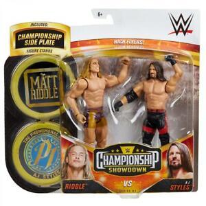 WWE Mattel Matt Riddle vs. AJ Styles Championship Showdown Series 4 Figures