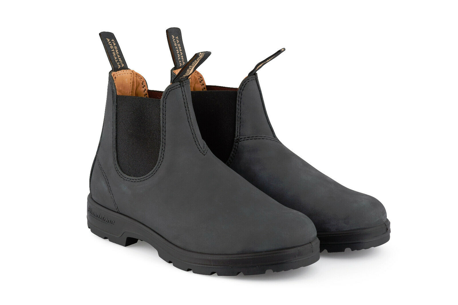 bluendstone Unisex 587 Rustic Black Leather Chelsea Chelsea Chelsea Ankle Classic Mens Boots 09c7dd