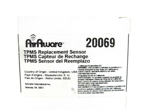 NEW Schrader TPMS Replacement Sensor 20069 fits Nissan Infiniti 2004-2007