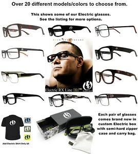 206737650140 Image is loading New-Electric-Rx-Prescription-Eyeglasses-Frames-Mens-Msrp-