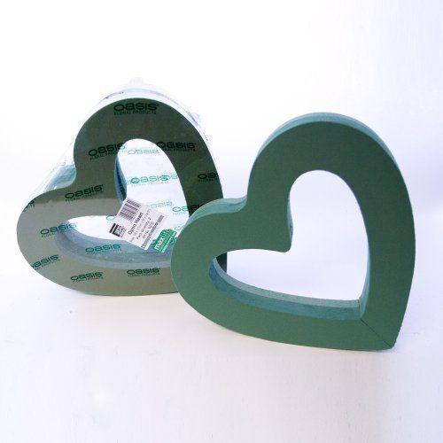 Mousse Oasis Double Coeur Ouvert Solide cœur brisé design formes choisissez