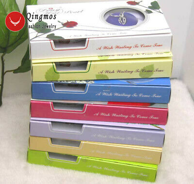 SALE Wholesale 10 different pendant Wish Pearl Necklace Gift set box-who133