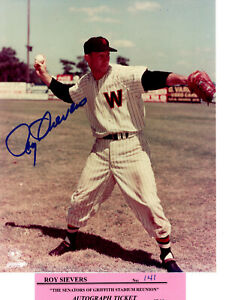 Signed-8x10-photo-Roy-Sievers-d-039-17-Washington-Senators