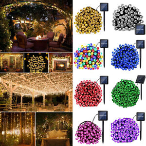 60-200 LED Solar Powered Fairy String Lights Garden Party Deco Christmas XMAS