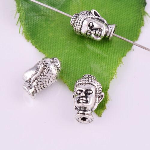 40 Style Loose Beads Multi Taille tibétain en métal argenté bijoux charme perles Entretoises