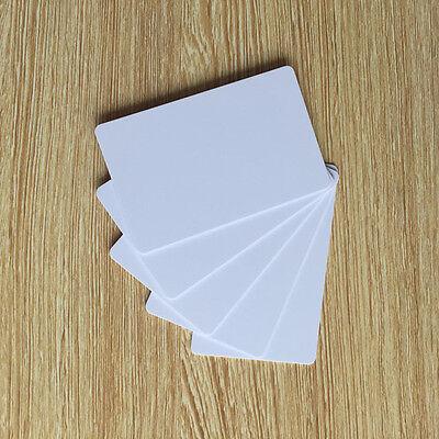 Blank Printable PVC Plastic Photo ID White Credit Card 30Mil CR80 - 100