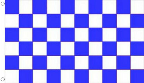 5/' x 3/' Royal Blue and White Check Flag Checkered Flags Banner