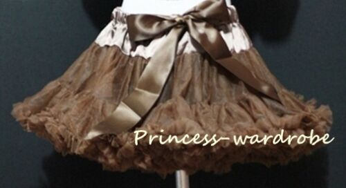 Brown Pettiskirt Petticoat Fancy Dance Skirt 1-8Y P09