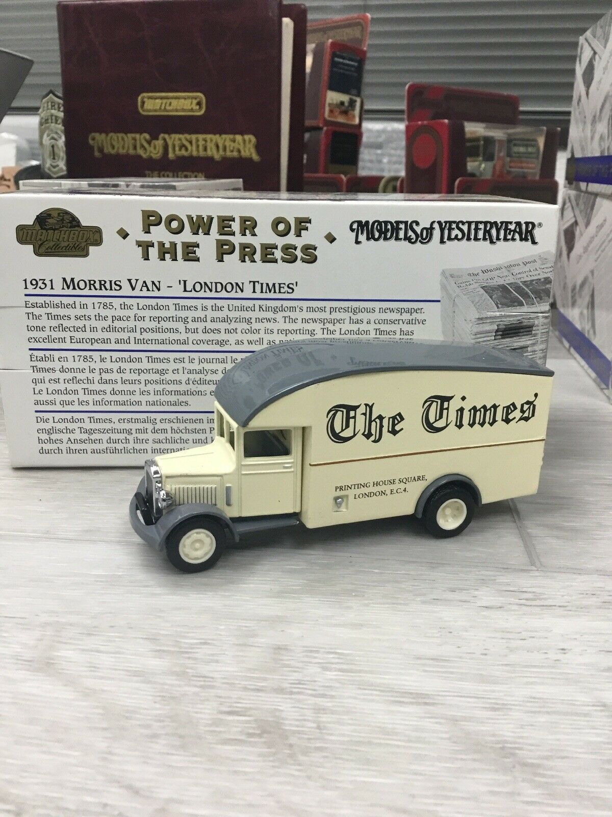 RARE MATCHBOX Collectible voitures COMPLETE Collection 8  pcs POWER OF the PRESS  magasin pas cher
