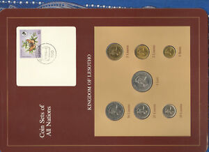 Coin-Sets-of-All-Nations-Lesotho-1-Loti-25-10-5-2-Lisente-1979-50-1-1983-UNC
