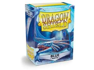 Dragon-Shield-Blue-Matte-Card-Sleeve-Protectors-100-Pack-Free-Shipping