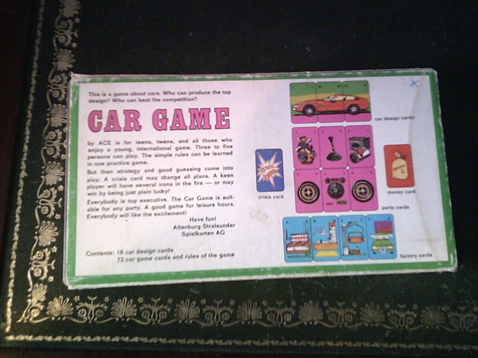 Car Card Vintage Game by Ace, Vintage Card Card Game ba70cb