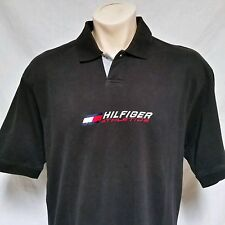 VTG Tommy Hilfiger Athletics Polo Shirt 90's Sport Spell Out Flag Lotus Ski XL