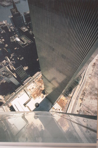 Kunst-Postkarte The World Trade Center,1973,The Space In Between