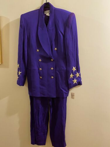 Solini Pant Suit Women's Vintage 80's Holiday  Sh… - image 1