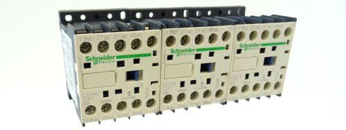 3x Schneider Hilfsschütz CA2KN22P7 Control Relay Spule 230V 10A 2S+2Ö 2NO+2NC