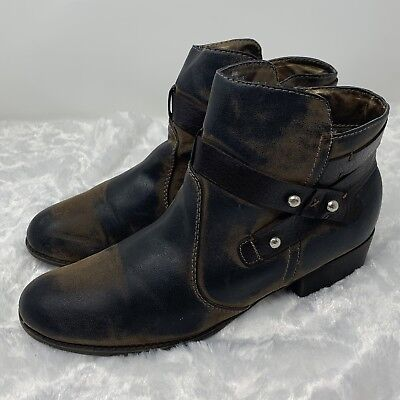 296fccb20e8 Nicole Women's DSW Pegasus Vegan Leather Brown Ankle Boots Booties Size 9M  | eBay