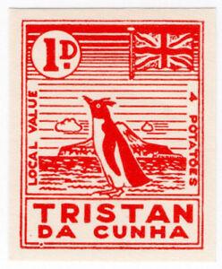 I-B-Tristan-da-Cunha-Postal-Local-Post-1d-Penguin