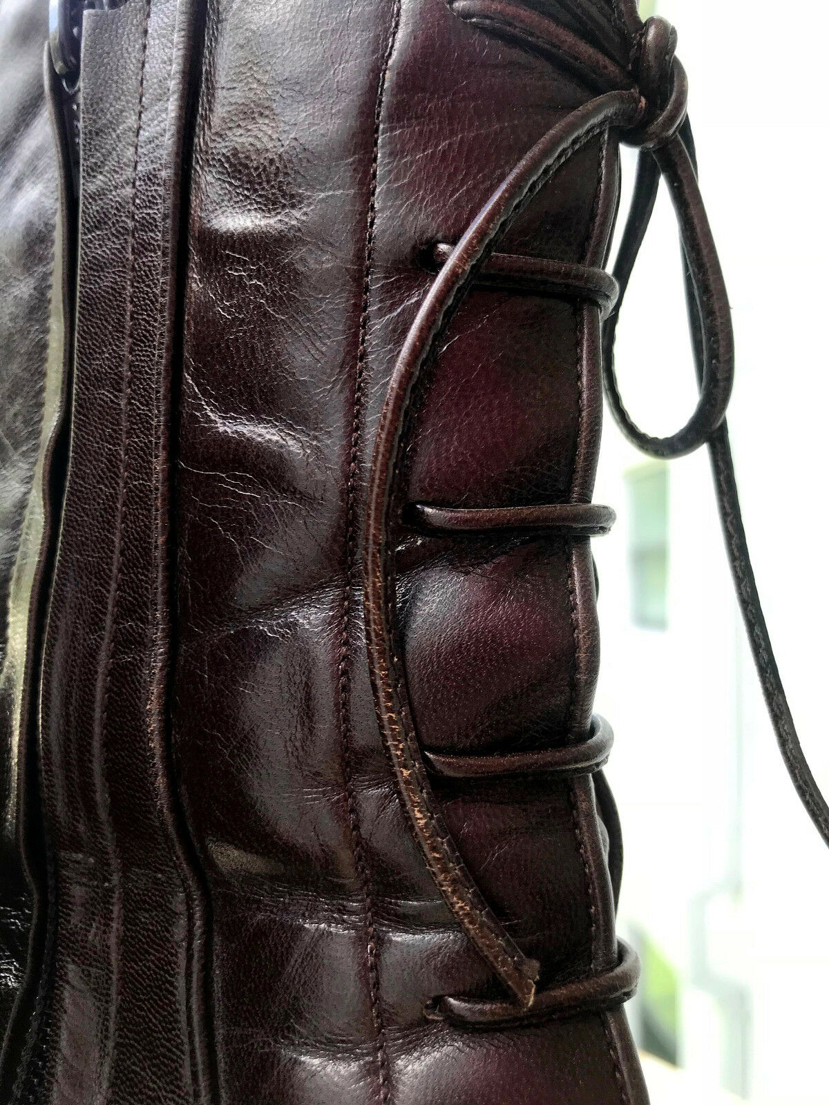 Celine Burgundy Leather Pamps Pamps Pamps Stiefelies Ankle Stiefel Größe EU 38 465ac9