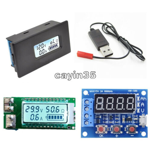 ZB2L3 26650 18650 Capacity Current Voltage LCD Meter Lithium Battery Tester UK
