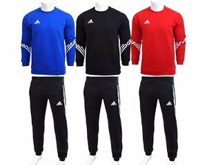 Mens-Adidas-Fleece-Sereno-Sweatsuit-Tracksuit-Sweater-Jogging-Bottoms-Sweatpants