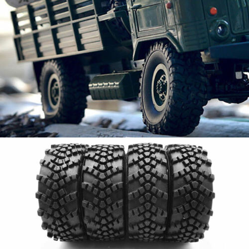 4 Stk Reifen Räder für WPL B14 B16 B24 C14 C24 Military Truck 1//16 RC Car Teile