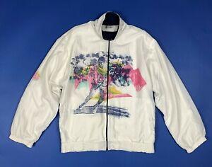 Sportline-felpa-tuta-vintage-usato-M-uomo-donna-giacca-retro-jacket-sport-T6062