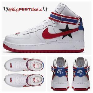Tamanho 15 Nike Lab X Rt Ricardo Tisci Air Force 1 Alta Aq3366 100 Off White Jordan Ebay
