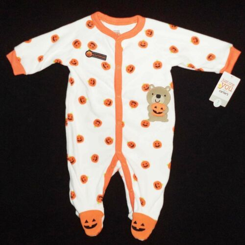 SIZE Newborn, 3 Month Carters My First Halloween Infant Footed Blanket Sleeper