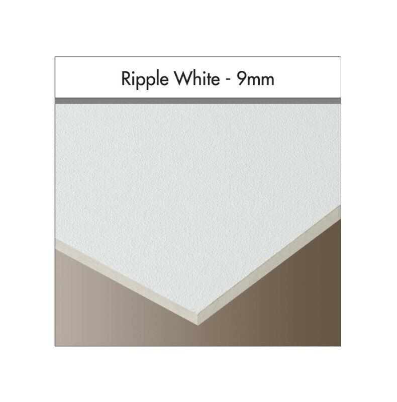 Vinyl Clad Gypsum Ceiling Tiles, Aluminium Foil Backed – White