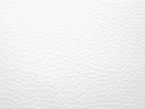 WHITE FAUX LEATHER BTY FABRIC for UPHOLSTERY SEAT STOOL SOFA CRAFT DIY