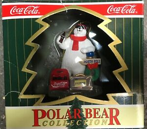 Coca-Cola-Polar-Bear-Collection-North-Pole-to-Hollywood-Christmas-Ornament-1996