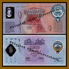 Kuwait 1 Dinar Sst, 1993 & 2001 P-CS1/CS2 Commemorative Polymer Unc
