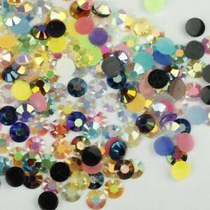 1000-Crystal-Flat-Back-Iridescent-Nail-Art-Festival-Face-Gems-Rhinestones-AB