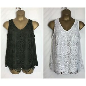 Dorothy-Perkins-Ivory-or-Khaki-Lace-Sleeveless-Plus-Size-Top-18-28-dp-30h