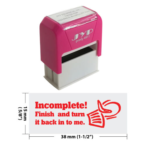Finish Incomplete Teacher Stamp 4911R-13 Red Ink