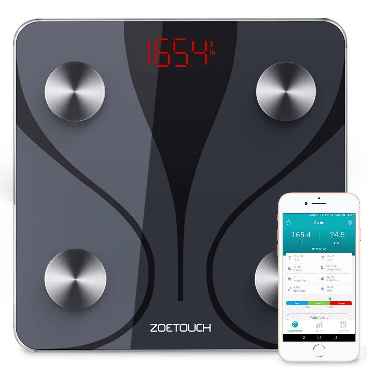 Smart Body Scale, Blautooth Body Fat Scale Analyser with iOS and Android App
