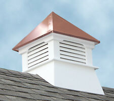 White Square UV Protected Gable Roofed Copper Roof Louver Composite Vinyl Cupola