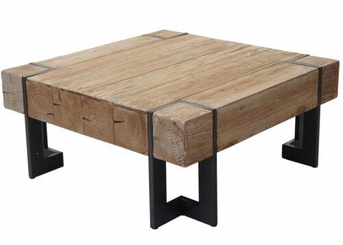 Table de Salon Table Basse HWC-A15 Sapin Bois Massif 40x90x90cm Rustique