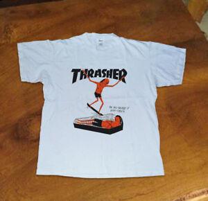 Thrasher Neck Vintage T-Shirt Rare Sz S-M-L-XL-2XL TOP Reprint ... 67ee1f627