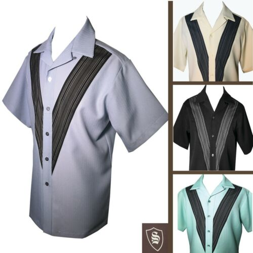 1950s Men's Shirt Styles – Dress Shirts to Casual Pullovers    Swankys Vintage Aaron Sport Small thru 3X $88.00 AT vintagedancer.com
