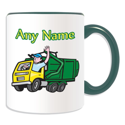 Cadeau personnalisé tasse camions à ordures argent boîte recycler collecte des ordures bin cup