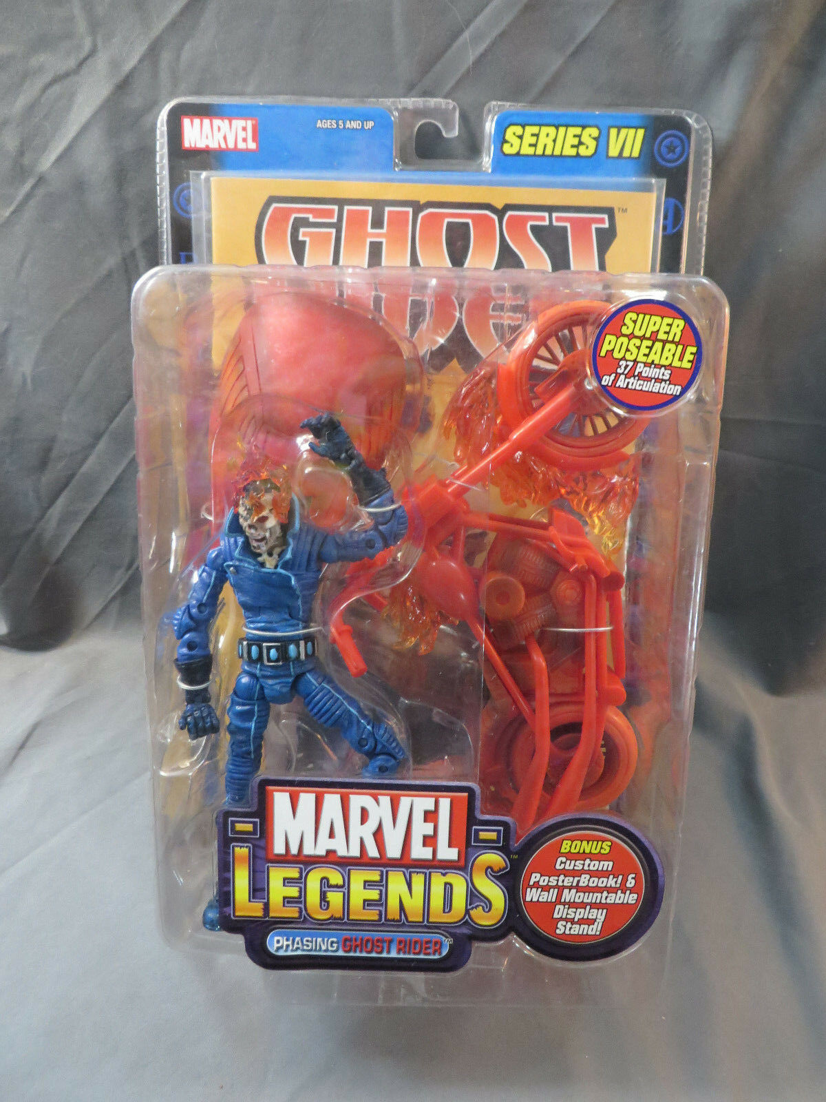 ToyBiz Marvel Legends Series VII Phasing Ghost Rider MOC 2004 6