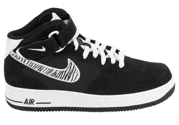315123-017 Men's Nike Air Force 1 Basketball shoes Black Wht Zebra Size 11 NIB